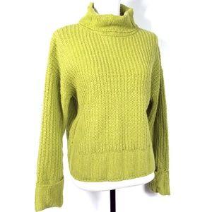 True Craft Oversized Boxy Green Sweater